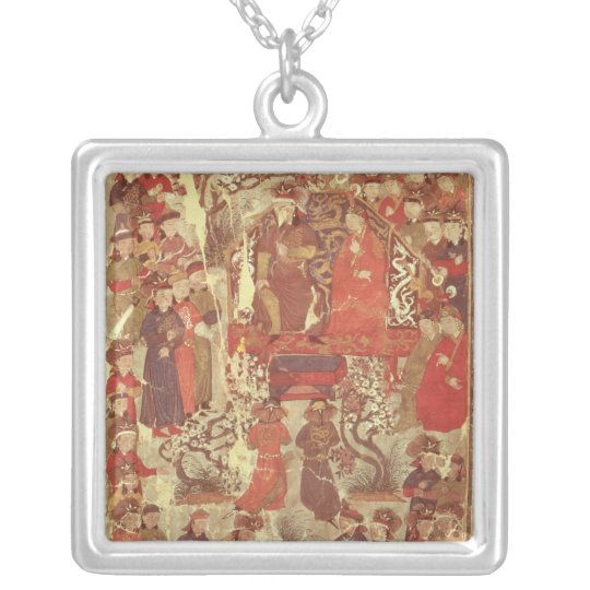 Ms. Supp. Pers.Genghis Khan and his wife Silver Plated Necklace
