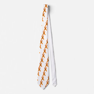 ms support orange ribbon neck tie