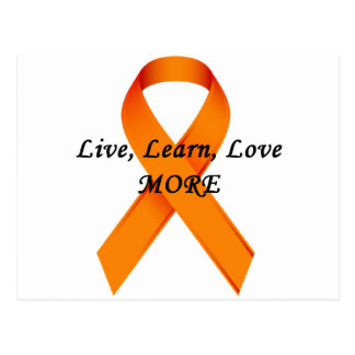 ms support orange ribbon postcard