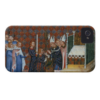 Ms Tiberius B Viii f.58 Coronation of King Charles iPhone 4 Case-Mate Case