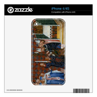 Ms Tiberius B Viii f.58 Coronation of King Charles iPhone 4S Decal