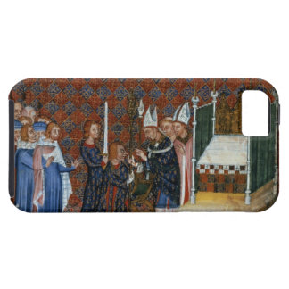 Ms Tiberius B Viii f.58 Coronation of King Charles iPhone SE/5/5s Case