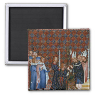 Ms Tiberius B Viii f.58 Coronation of King Charles Fridge Magnet