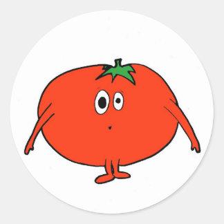 Ms. Tomato Classic Round Sticker