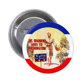 Ms Warren Goes To Washington Pin Redondo 5 Cm