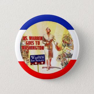 Ms. Warren Goes To Washington Pinback Button