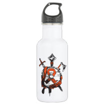 MS Warrior Shield & Arms Stainless Steel Water Bottle
