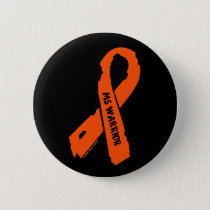 MS WARRIOR/ torn ribbon Button