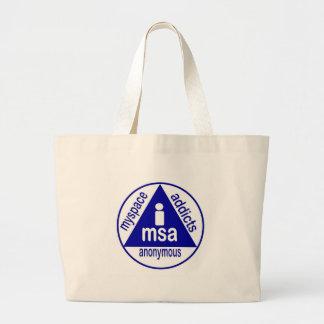 MSA:  MySpace Addicts Anonymous Jumbo Tote Bag
