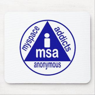 MSA:  MySpace Addicts Anonymous Mouse Mat