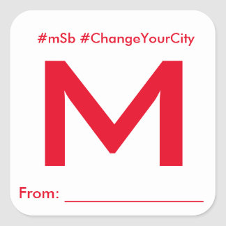 mSb Official #ChangeYourCity Donation Sticker
