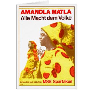 MSB Suráfrica 1977 Felicitación