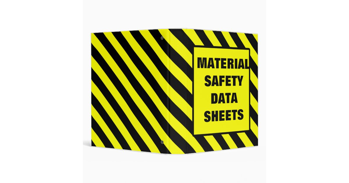 msds binder cover yellow zazzle. Black Bedroom Furniture Sets. Home Design Ideas