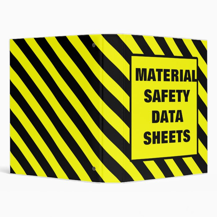 MSDS Binder Cover Yellow