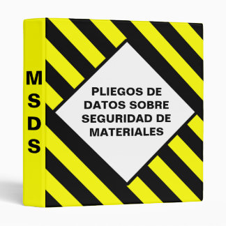 MSDS Binders in Spanish