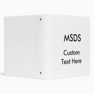 MSDS, Custom Text Here Binder