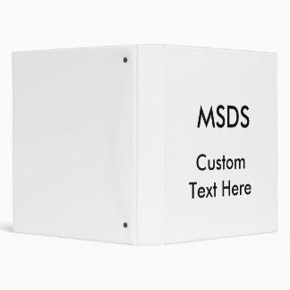 MSDS, Custom Text Here Vinyl Binders