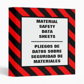 MSDS English Spanish Red Binder
