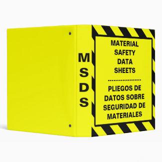MSDS OSHA Binder