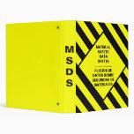 MSDS Safety Binder