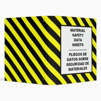 MSDS Sheet Binders