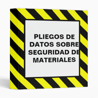 MSDS SPANISH SHEET BINDER