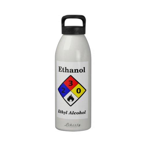 MSDS Style Ethanol Label Water Bottle