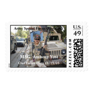 MSG. Anthony Yost Postage Stamps
