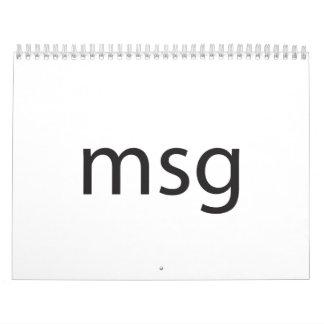 msg calendars