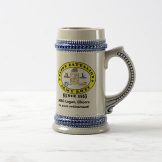 MSG Logan, Cheers to your retirement! Beer Stein