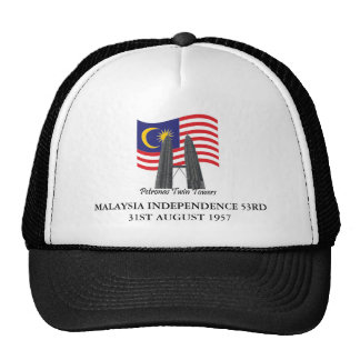 MSIA, MALASIA INDEPENDENCIA 53.o 31 de agosto de 1 Gorros Bordados