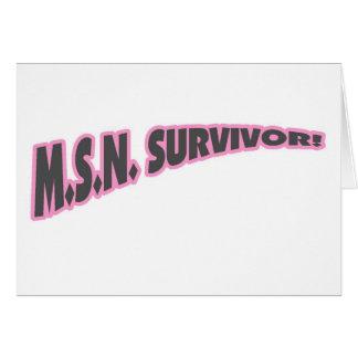MSN Survivor In Pink Card