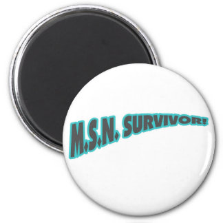 MSN Survivor In Teal 2 Inch Round Magnet