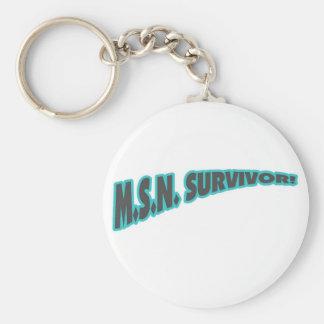 MSN Survivor In Teal Basic Round Button Keychain