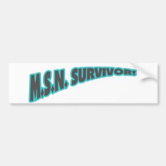 MSN Survivor In Teal Bumper Sticker