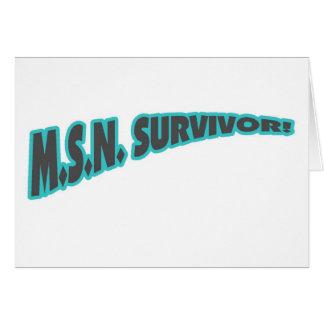 MSN Survivor In Teal Card