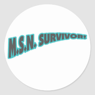 MSN Survivor In Teal Classic Round Sticker