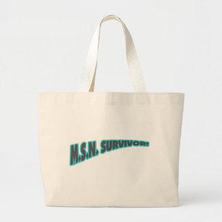 MSN Survivor In Teal Large Tote Bag