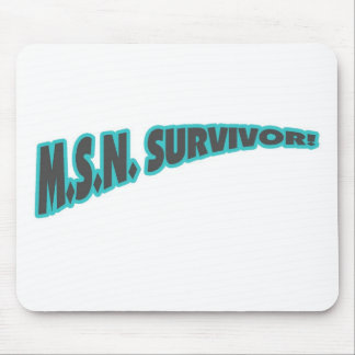 MSN Survivor In Teal Mouse Pad