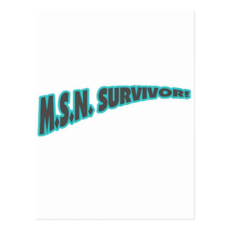 MSN Survivor In Teal Post Cards