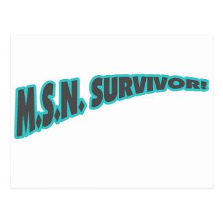 MSN Survivor In Teal Postcard