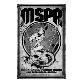 MSPR - Mark Skull Pirate Radio - Demoness Frazetta Poster