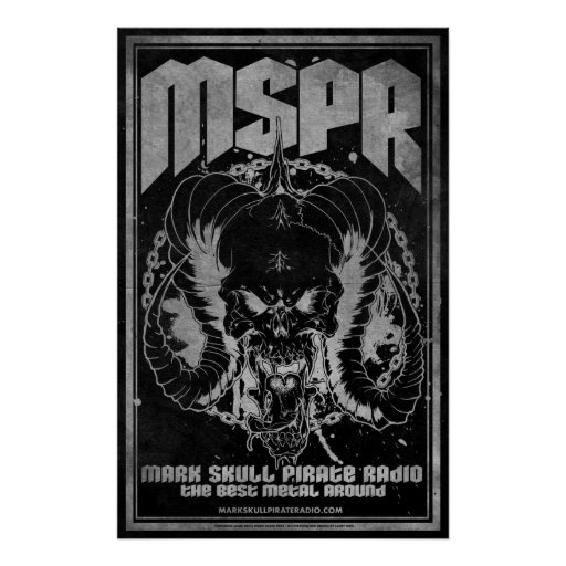 MSPR - Mark Skull Pirate Radio - Skull of DEATH Print