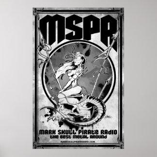 MSPR - Marque la radio del pirata del cráneo - Póster