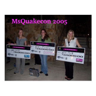 MsQuakecon 2005 girlz of destruction win Post Cards
