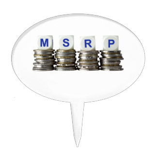 MSRP - Manufacturer's Suggested Retail Price Cake Topper