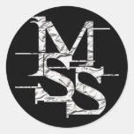 mss1 pegatina redonda