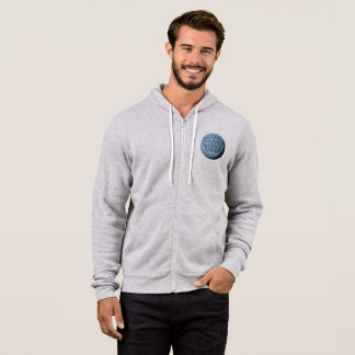 MST3K Moon Zip Hoodie (Athletic Heather)