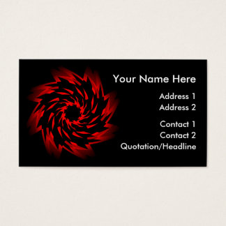 Mstar SciFi Rose Twirl Business Card