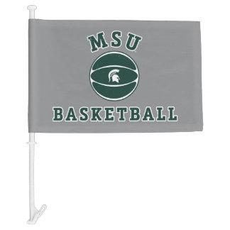 MSU Basketball | Michigan State University 4 Car Flag
